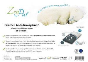 Oreiller en fibre de bambou ZenPur pour douleur cervicales