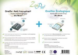 prix Oreiller en fibre de bambou ZenPur