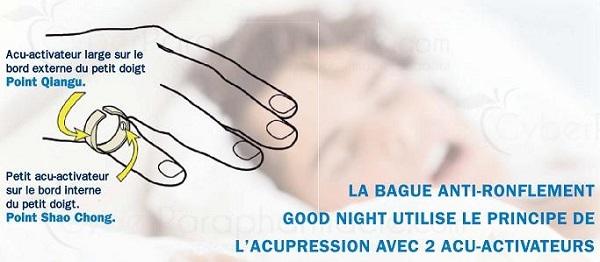 taille et prix Bague anti-ronflement Good Night pas cher